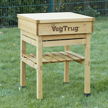 Veg Trug Kids Work Bench Natural Wood  medium