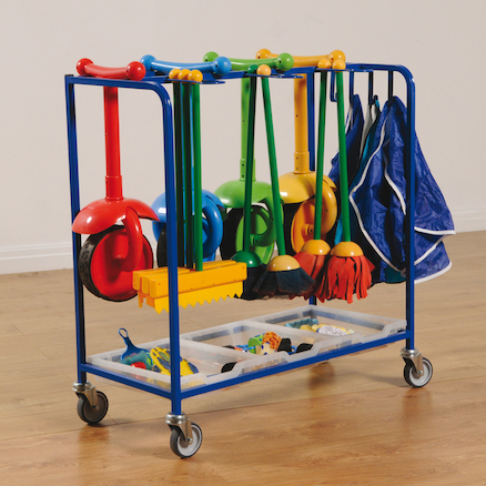 Outdoor Mobile Art Resources Storage Trolley  large
