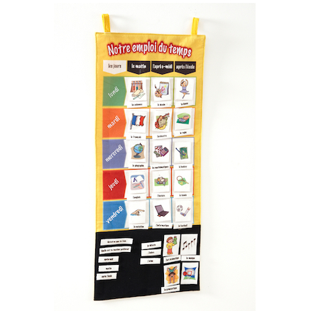 French School Timetable Vocabulary Wall Hanging  large