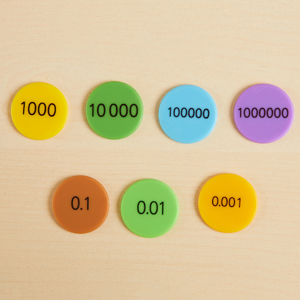 Place Value Counters Decimals, 1000s and up 700pk  large