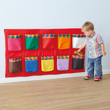 Wall Mounted Rainbow Storage Pockets 120cm  medium