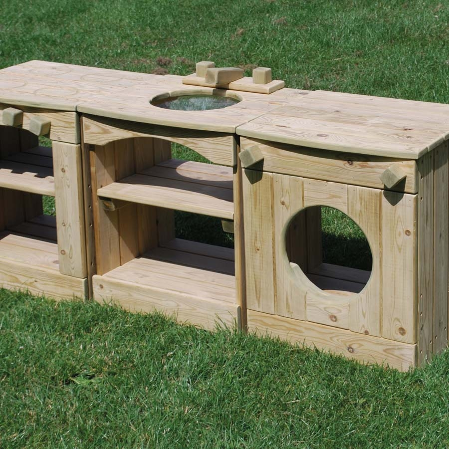 Outdoor Kitchen Made Of Wood: Buy Outdoor Wooden Role Play Kitchen Station