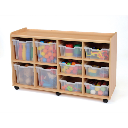 Safe Sturdy Storage Tray Unit 4 Jumbo Trays  large