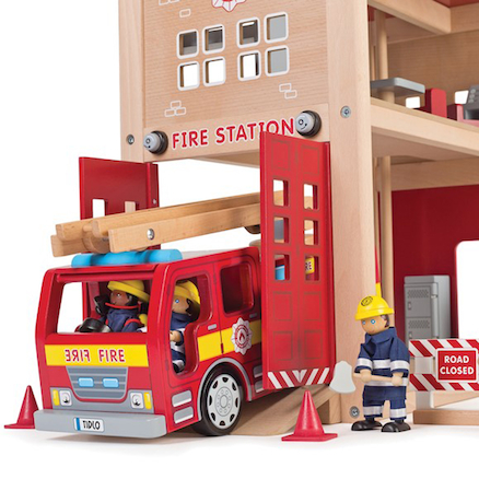 Fire Station, Truck, Firefighters and Accessories  large