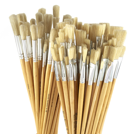 Long Handled Hog Hair Paint Brushes 120pk  large