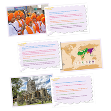 Thinking RE: World Religions Picture Activity Cards   medium