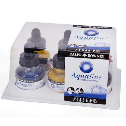Daler Rowney Aquafine Watercolour Inks 6pk  large