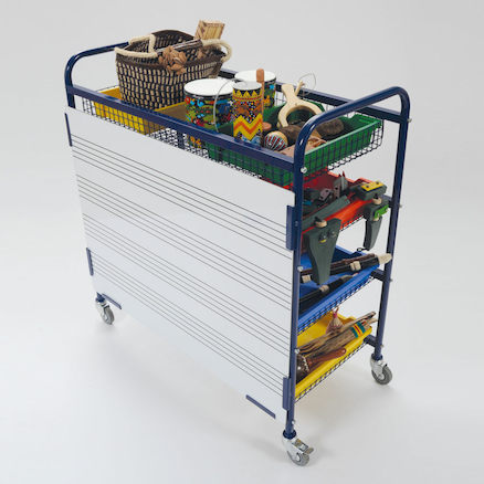 Whiteboard Music Storage Trolley  large