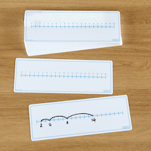 Dry Wipe Double Sided Number Line Board 30pk  medium