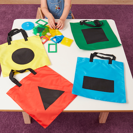Shape Sorting Bags 4pk  large