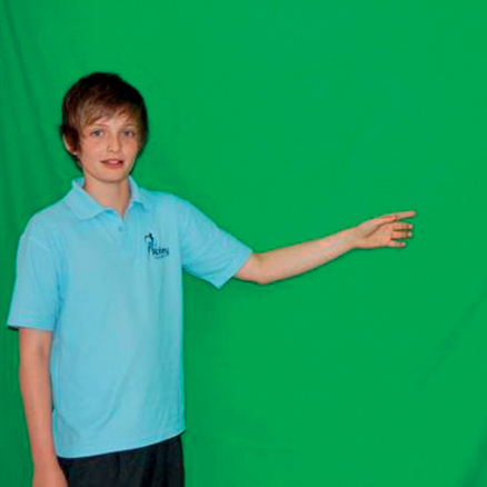 Green Screen with poles  large