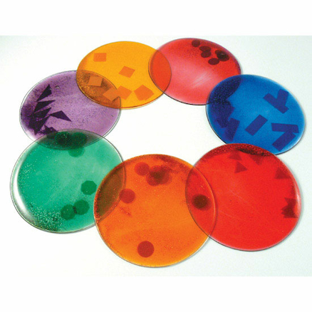 Squidgy Sparkle Sensory Colour Mix Gel Shapes 7pk  large