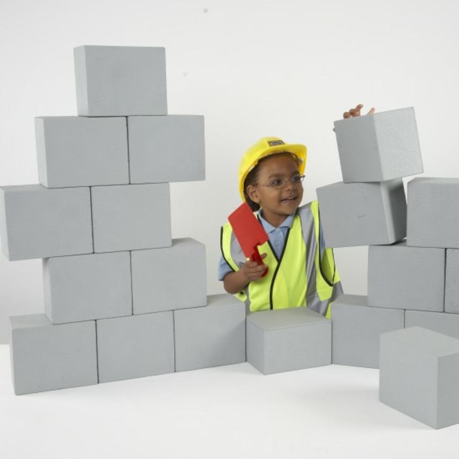 Buy role play foam breeze blocks tts for Foam block wall construction