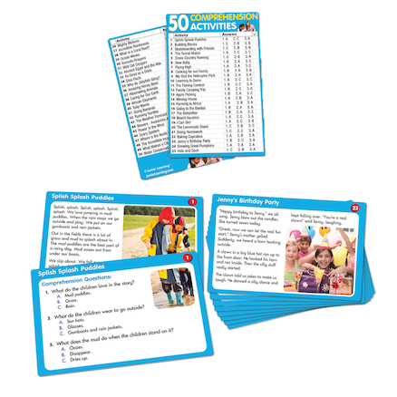 Comprehension Activity Cards  large