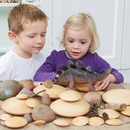 Wooden Stacking Pebbles 20pk  large