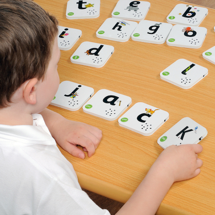 Talking Alphabet Recordable Cards  large