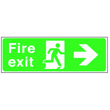 Fire Exit Arrow Signs Rigid Plastic  large