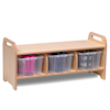 Playscapes Cloakroom Storage Bench Large  small