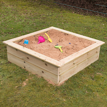 Wooden Mini Square Sandbox and Planter  medium