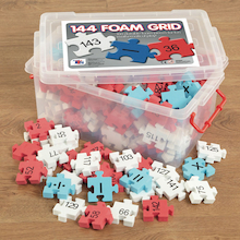 Foam Number Square Puzzle 1-144  medium