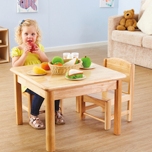Toddler Wooden Role Play Table and Chairs   medium