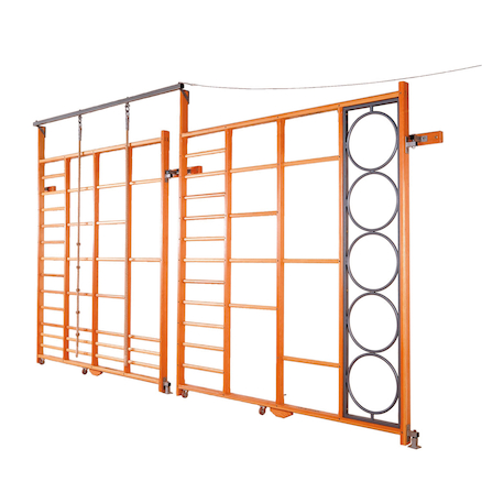Double Hinged Fixed Gym Climbing Frame  large