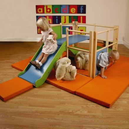 Toddler Wooden Climbing Frame Slide Set  large