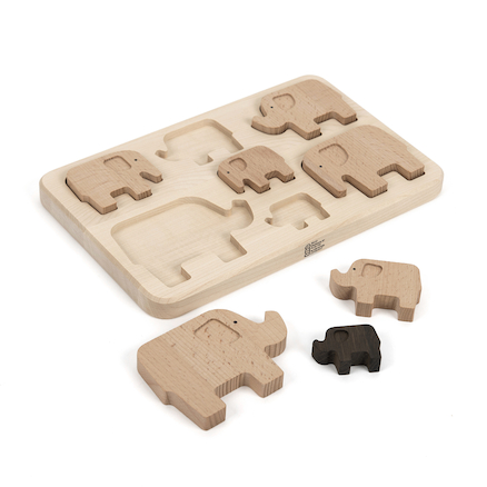 Elephant Wooden Sorting Puzzle  large