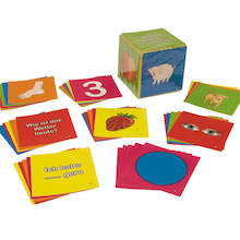 German Vocabulary Dice Inserts Cards  medium
