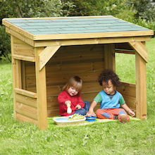 Outdoor Wooden Toddler Den  medium