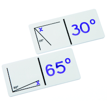 Angle Calculation Dominoes Game  medium