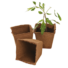 Square Fibre Plant Pots  medium