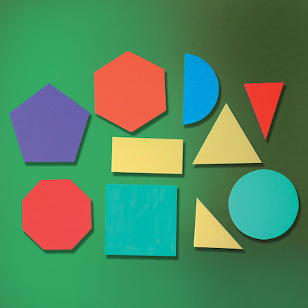 2D Foam Geometric Shapes 10pcs  large