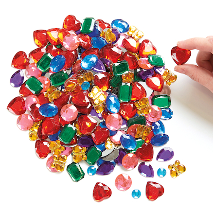 Giant Glittering Mirror Backed Acrylic Gems 700pk  large