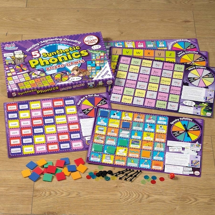 5 Synthetic Phonics Phase 3 Board Games  large