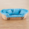 Wicker Basket Cosy and Cushion Set  small