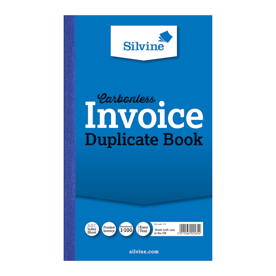Buy Silvine Duplicate Invoice Book Pk TTS - Buy invoice book