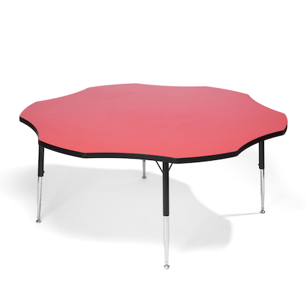 Height Adjustable Flower Classroom Table  large