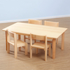 Solid Beech Rectangular Classroom Tables L120cm  small