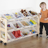 Single Beech Classroom Tidy with 12 Trays  small