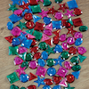 Large Sparkling Jewel Shapes Counters 94pcs  small