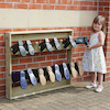 Outdoor Wooden Wellie Wall  small