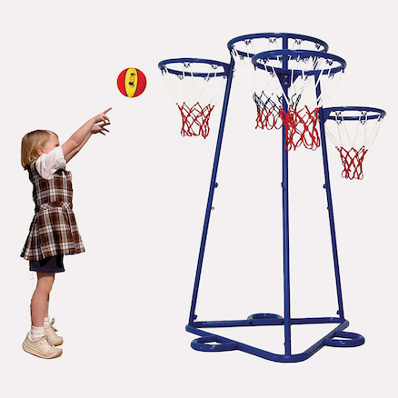 Four Hoop Basketball Playground Skill Trainer  large