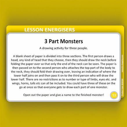 Religions Education Lesson Energiser Cards  large