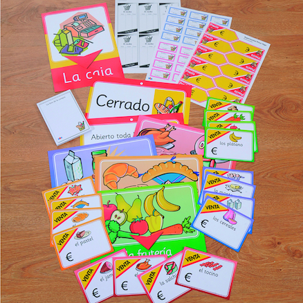 Spanish Going Shopping Role Play Pack  large