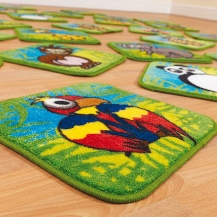 Wild Animals Mini Floor Mats 30pk  large