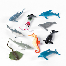 Small World Ocean Life Set 10pcs  medium
