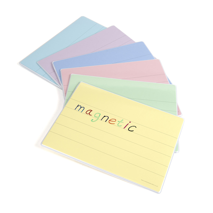 Coloured Tinted Dry Wipe Magnetic Boards 6pk  large