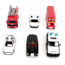 Die Cast People Who Help Us Vehicles 6pcs  medium