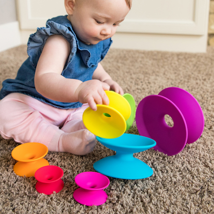 Spoolz Rubber Baby Stacking Tower  large
